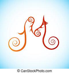 Letter of alphabet - m