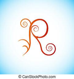 Letter of alphabet - r