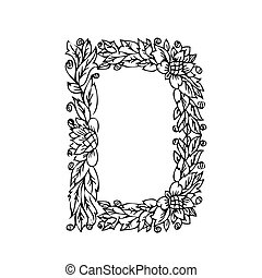 letter of foliage doodle