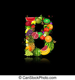 Letter of juicy fruit b