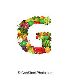 Letter of juicy fruit G