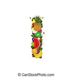 Letter of juicy fruit I