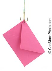 letter on a fishing hook - a rosa letter is catching with a...