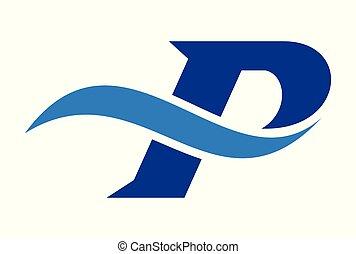 letter p icon logo concept vector