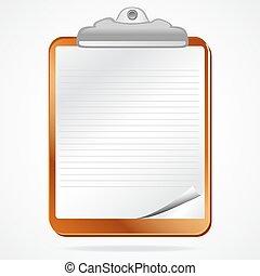letter pad - illustration of letter pad on white background