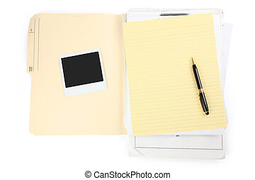 letter paper and pen, business concept