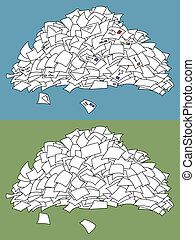 Letter Pile - Pile of letters. Below it is another pile of ...