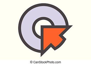 letter Q arrow logo
