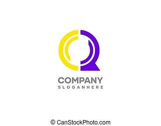 Letter Q logo design.Modern vector logo design template with initials letter Q as prefix. Q letter monogram icon