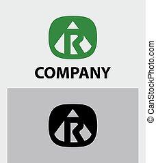Letter R emblem symbol. Creative