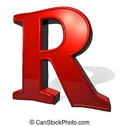 R letter in isometric 3d style with shadow violet r letter stock letter r in red over white background with shadow 3d render thecheapjerseys Images