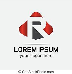 Letter R logo. Alphabet logotype