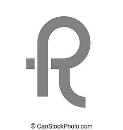 Letter R Logo Concept Icon. Vector illustration