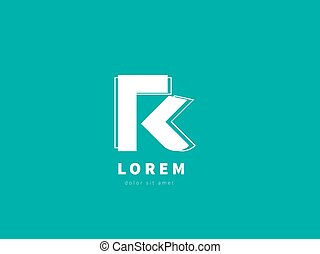 Letter R, logo design template. Creative vector logotype for your company.