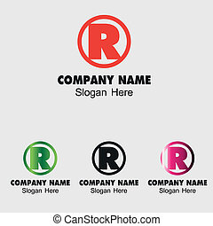 Letter R logo design template letter R icon