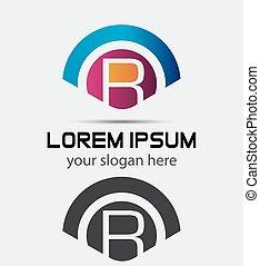 Letter R Logo Design.Creative