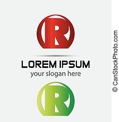 Letter r logo icon