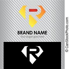 Letter R logo vector alphabet shape