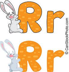 letter R rabbit