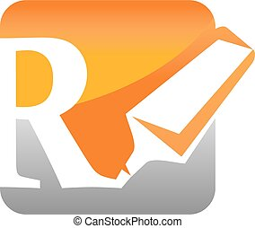 Letter R with Stabilo Vector