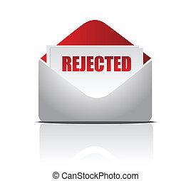 (letter), rejeitado, ilustração
