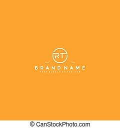 letter RT logo design vector template
