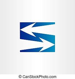 letter s arrows symbol number 5