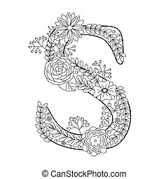 EPS Vectors of S letter. Vector alphabet. Coloring book syrinx - S ...