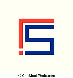letter s exclamation design symbol vector