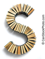 Letter S formed from the page ends of books - Letter S ...