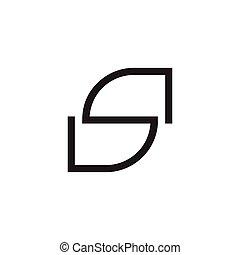 letter s geometric lines unusual logo vector