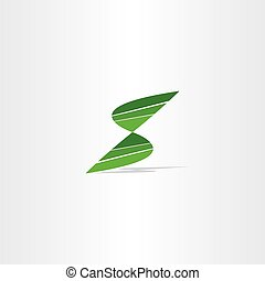letter s logo green sign symbol vector icon
