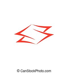 letter s negative space simple curves vector