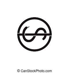 letter s snake line art logo vector