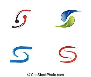 Letter s symbol illustration design