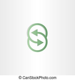 letter s vector arrows symbol design