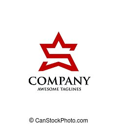 creative letter S star logo - Letter S vector logo symbol as...