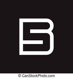 letter sb negative space logo vector