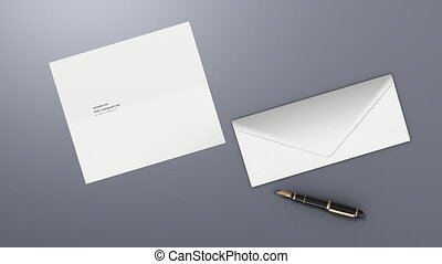 Letter Send - 1080p HD Stock Video of a letter folding and...