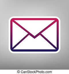 Letter sign illustration. Vector. Purple gradient icon on...