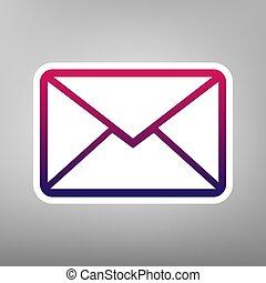 Letter sign illustration. Vector. Purple gradient icon on...