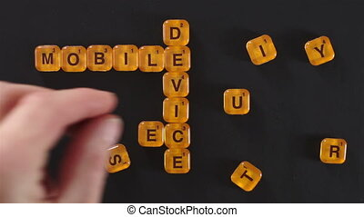 Letter Spell Mobile Device Security - A close up shot of a...