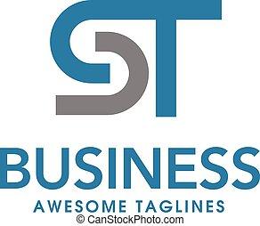 letter st logo design vector