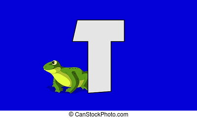 Letter T and Toad (background) - Animated animal alphabet....