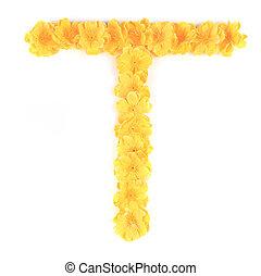 Letter T flower alphabet.