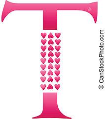 Letter T Love Alphabet Set