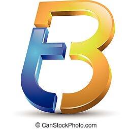 Letter TB logo - creative Letter TB 3d style modern logo...