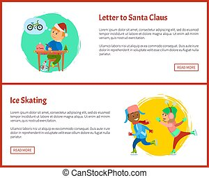 Letter to Santa and Ice Skating Web Posters, Text