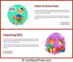 Letter to Santa Claus and Unpacking Gifts Web