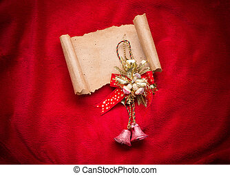 Letter to Santa Claus. Christmas red decorations.